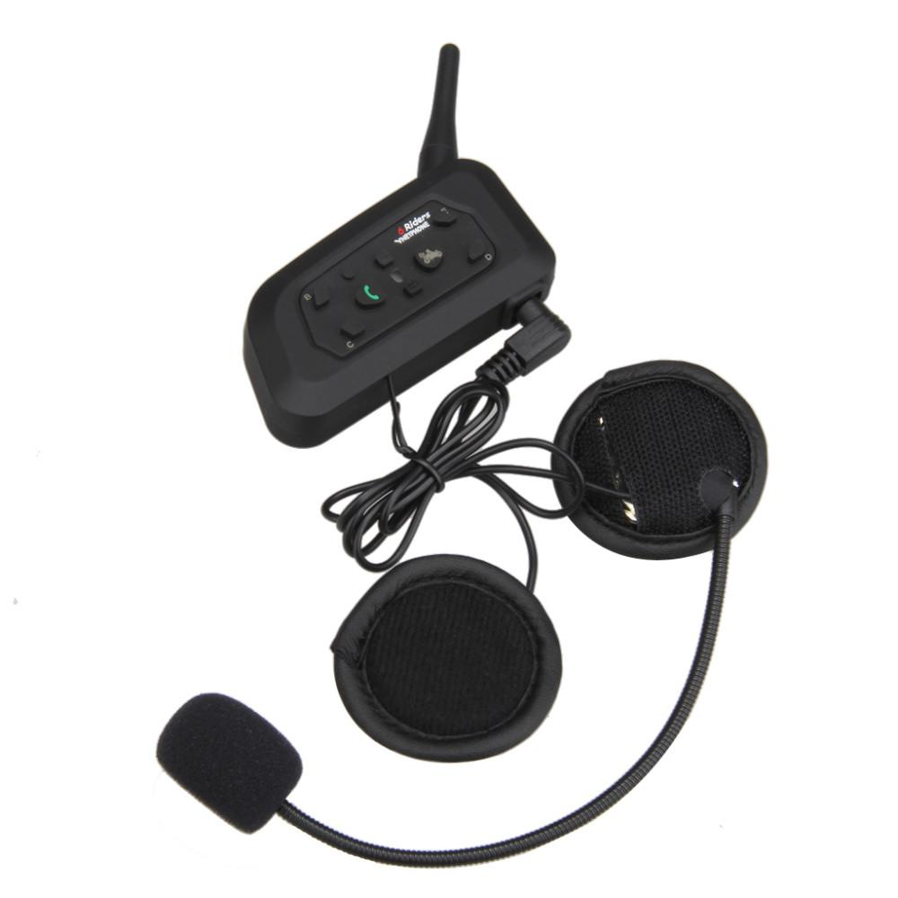 V6 BT Multi Interphone Bluetooth Intercom Moto Casque sans fil 1200M Casque Casq