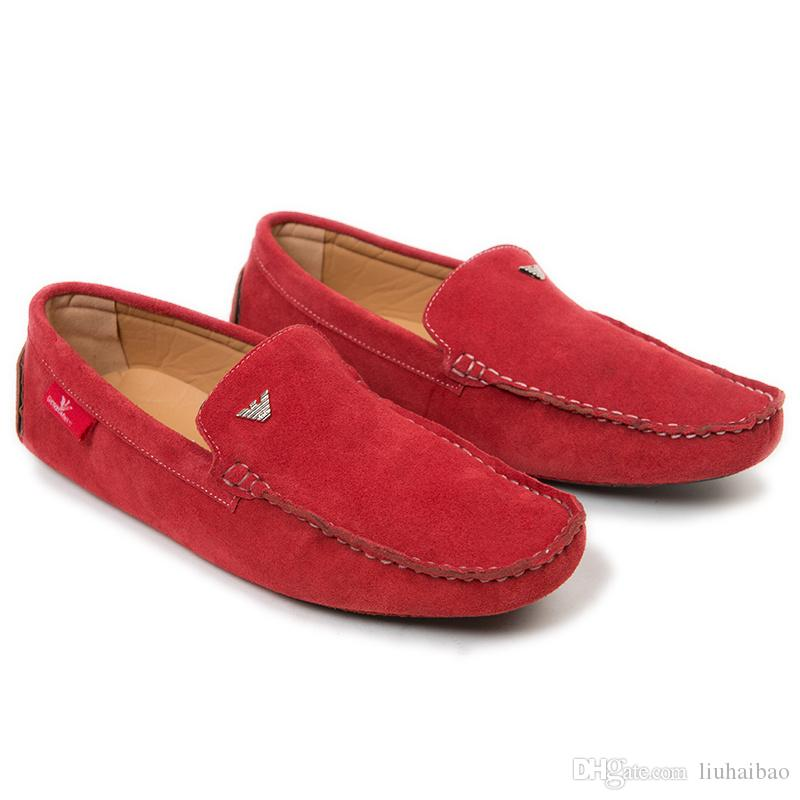 shoes casual cow split leather shoes flats