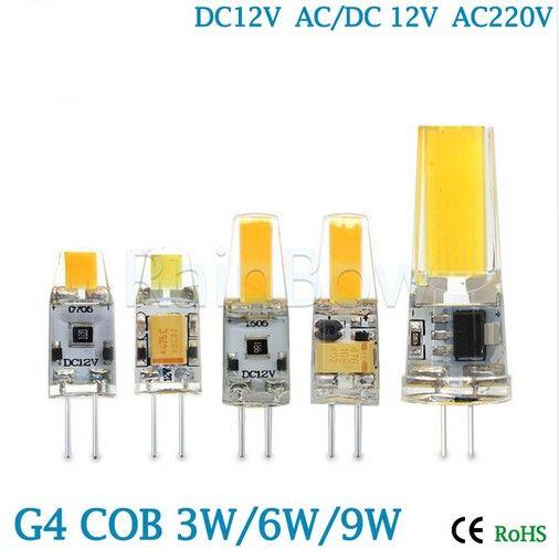 Bombillas g4 g9 led lamp cob led bulb 3w 6w 9w dc ac 12v - Bombillas g9 led ...