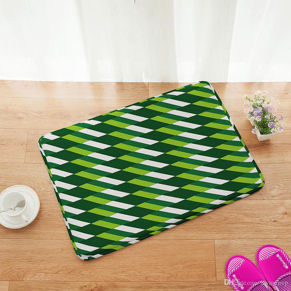Soft Kitchen Floor Mats Flannel Microfiber Bathroom Shower Accent Rug Non Slip Soft