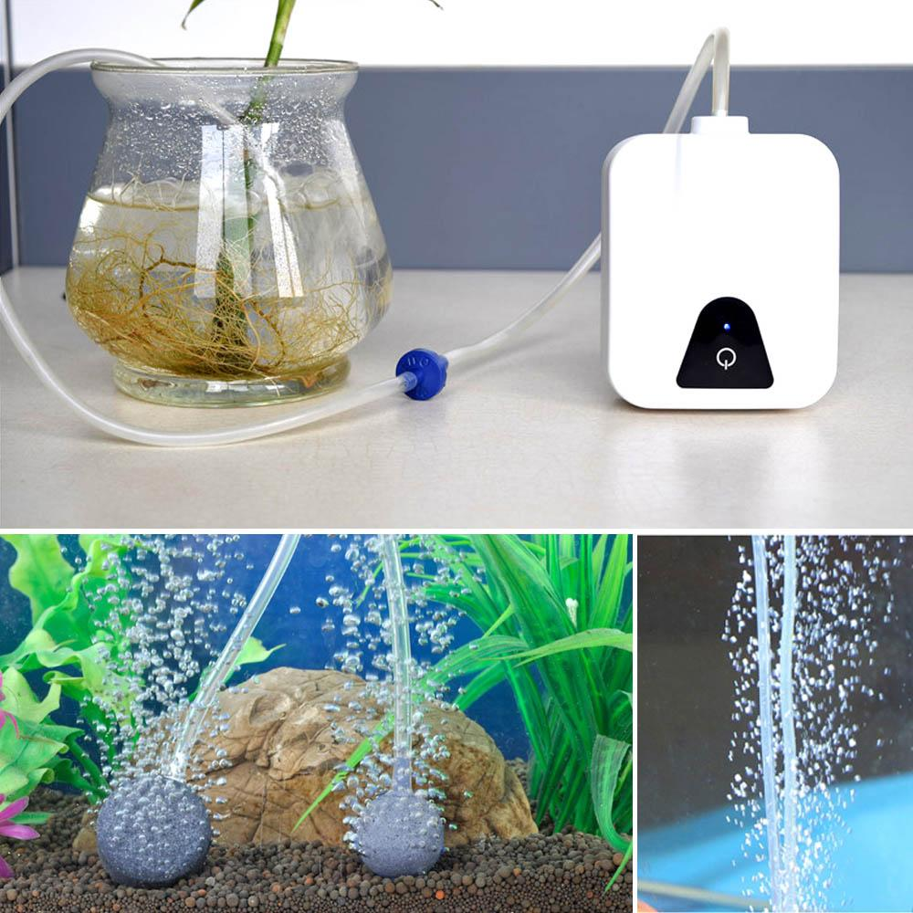 2017 Portable Dual Aquarium Fish Tank Oxygen Pump Electric
