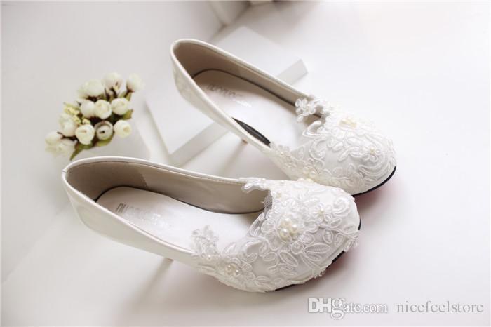 white lace wedding shoes kitten heel handmade 2015 bridal shoes cheap