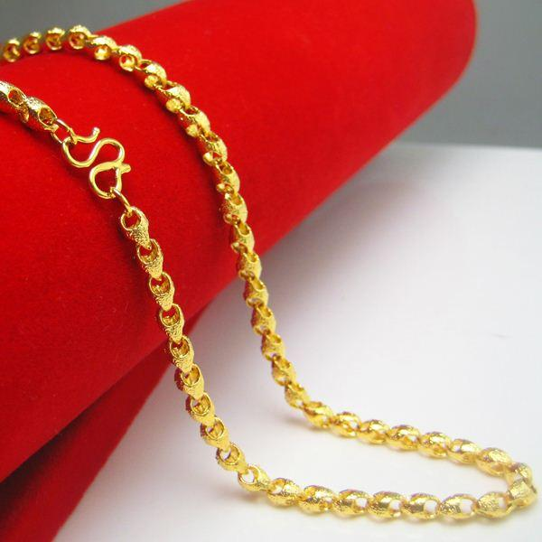 Wholesale do not fade gold necklace of male and female for Does gold plated jewelry fade