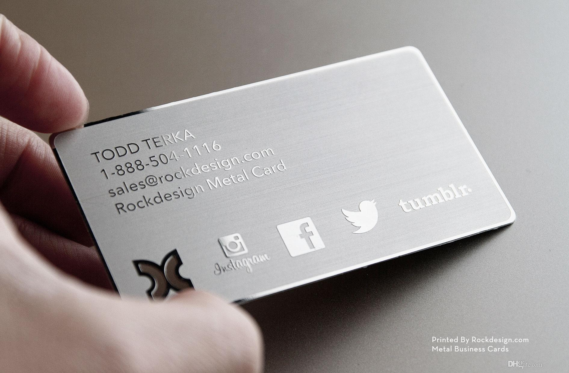 Top grade metal business card stainless steel business for Business cards metal