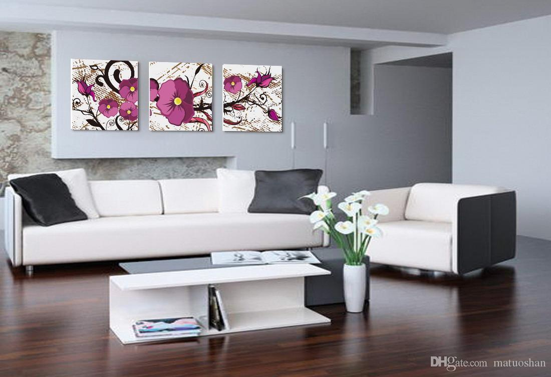 Discount contemporary beautiful flower painting giclee print on canvas home decoration wall art - Decor discount nimes ...