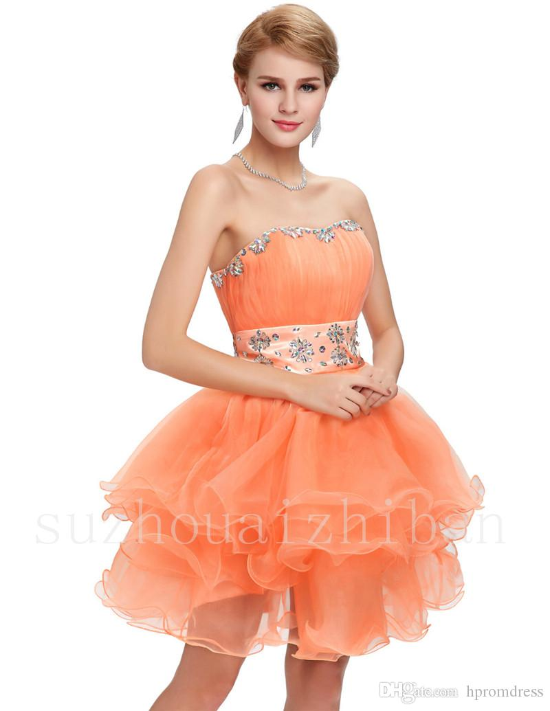 Bright lovely bridesmaid dress above knee prom gown beading cheap bright lovely bridesmaid dress above knee prom gown beading cheap wedding party dress crystal sweetheart bridesmaid dresses sweetheart prom dress short prom ombrellifo Image collections