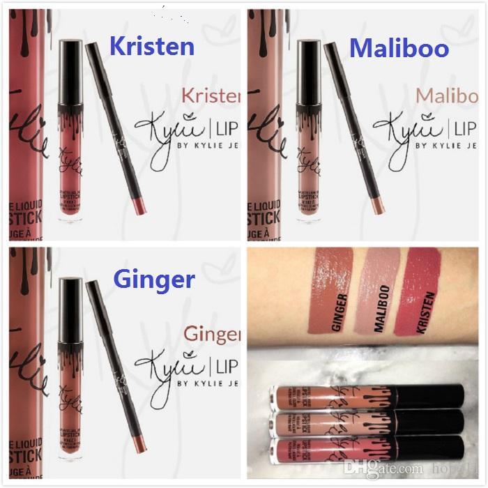 ผลการค้นหารูปภาพสำหรับ kylie matte liquid lipstick & lip liner maliboo