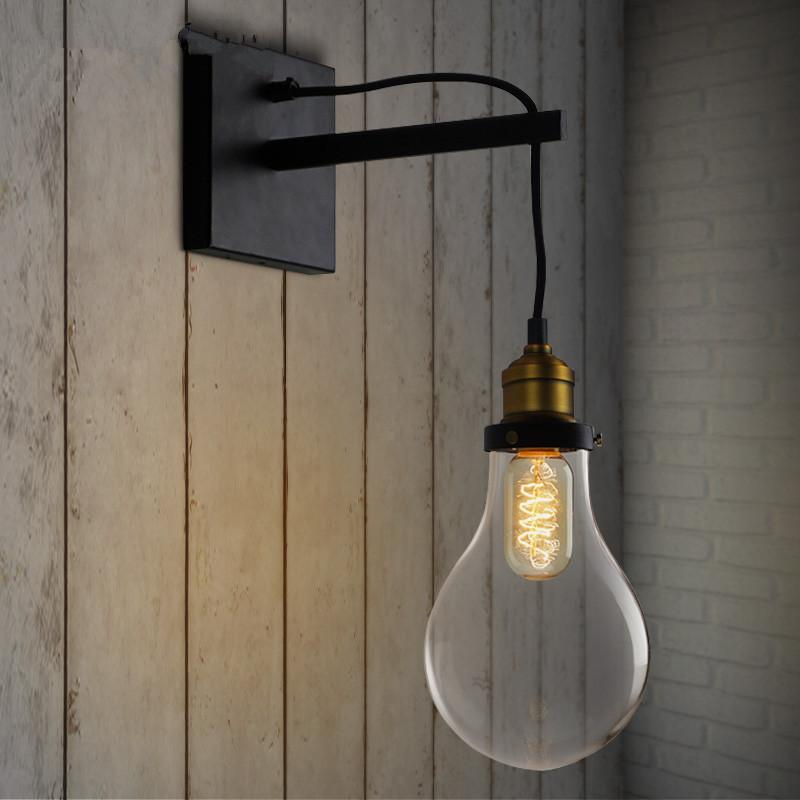 Vintage Kitchen Wall Lights : 2017 New Arrival Vintage Bulb Shape Wall Lamps Bedroom Bedside Wall Lights Kitchen Cabinet Bulb ...