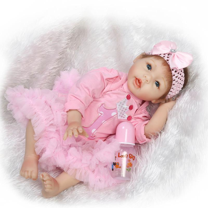 Fashion 20 Real Looking Reborn Dolls Babies Silicone Dolls