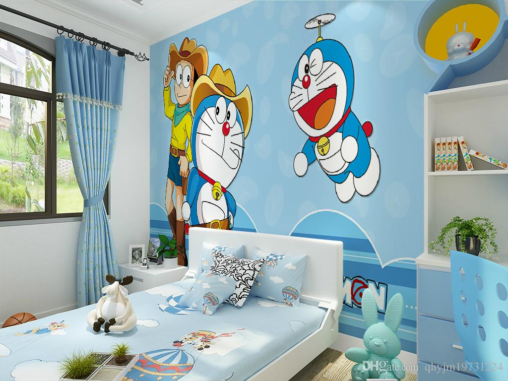 Modern children 39 s room wallpaper non woven comics cartoon Wallpaper for childrens room