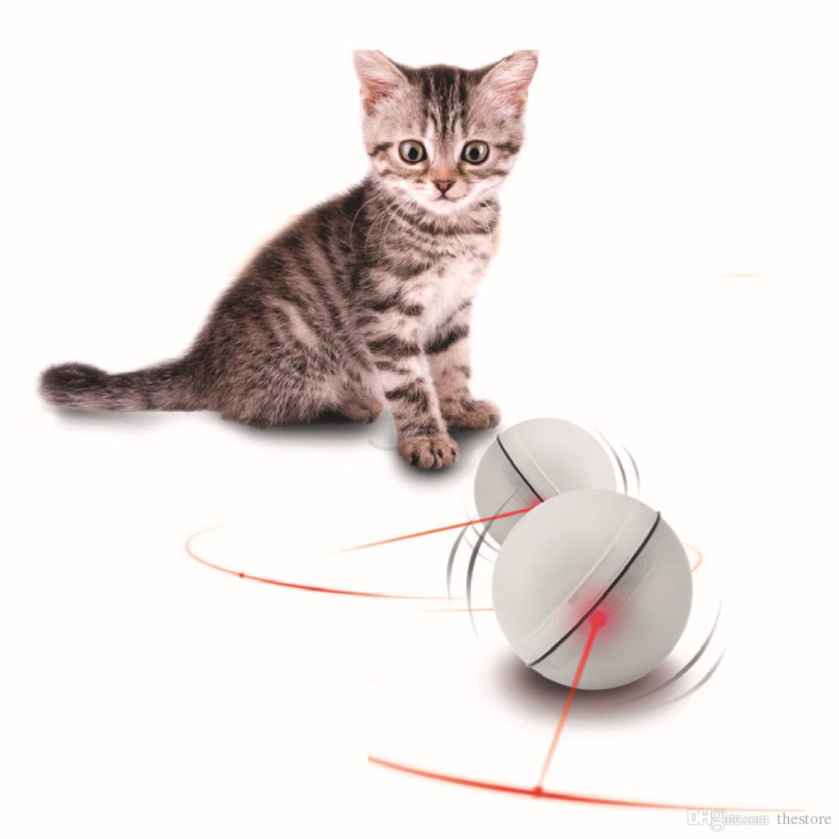 2016 New Hot Selling Pet toys Electric toys, pet toys LED flash light ball rolling cat funny cat toys