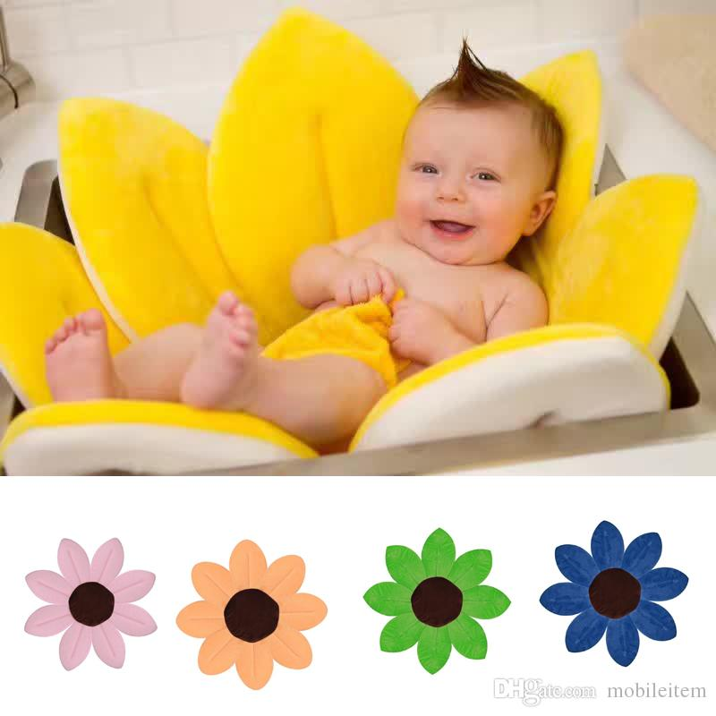 Non Slip Bath Mats Bath Shower Petal Bath Mat Non Slip Baby Bathtub Kids Tub  Folding Newborn Supplies 1551 Non Slip Bath Mats Online With $37.5/Piece On  ...