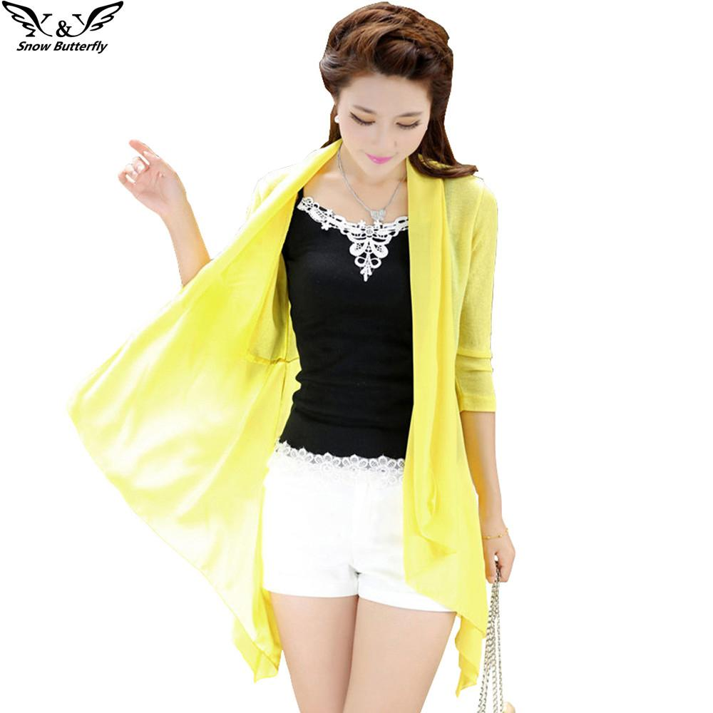 2017 Summer Style High Quality Sunscreen Kimono Cardigan Blouse ...
