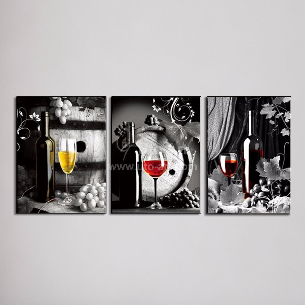 large canvas art cheap wall art picture of grape glasses modern pattern on the wall paintings for restaurant decoration custom canvas prints decor painting