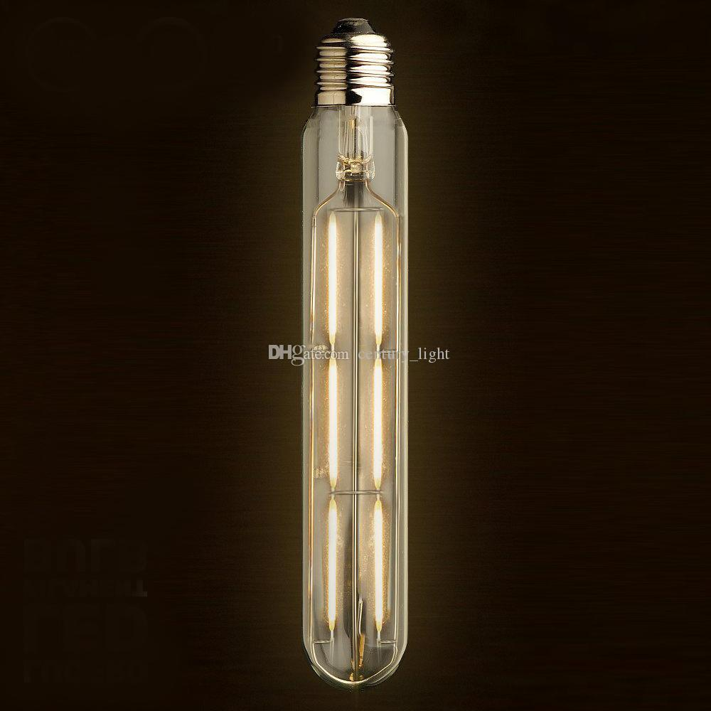 t30 185mm 6w led filament light bulb edison tubular. Black Bedroom Furniture Sets. Home Design Ideas