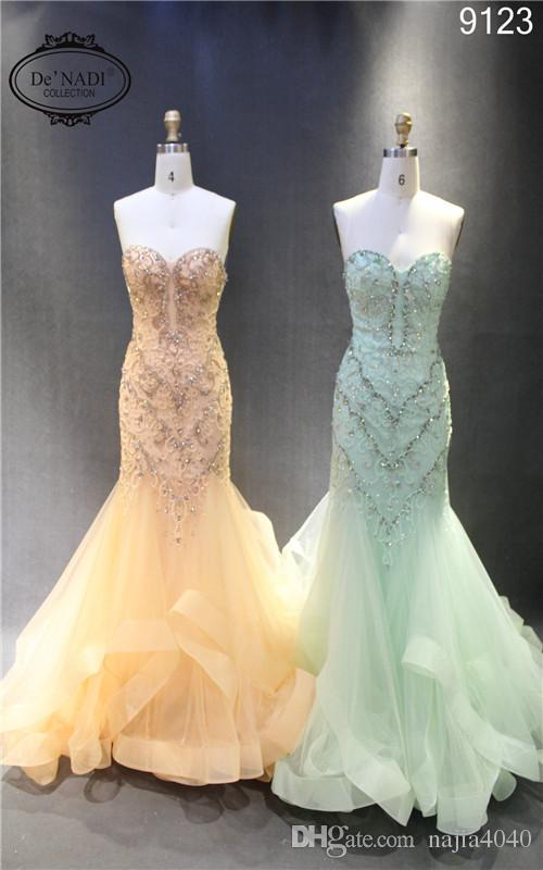2016 new arrival mermaid wedding dress crystal and sequins for Brand name wedding dresses