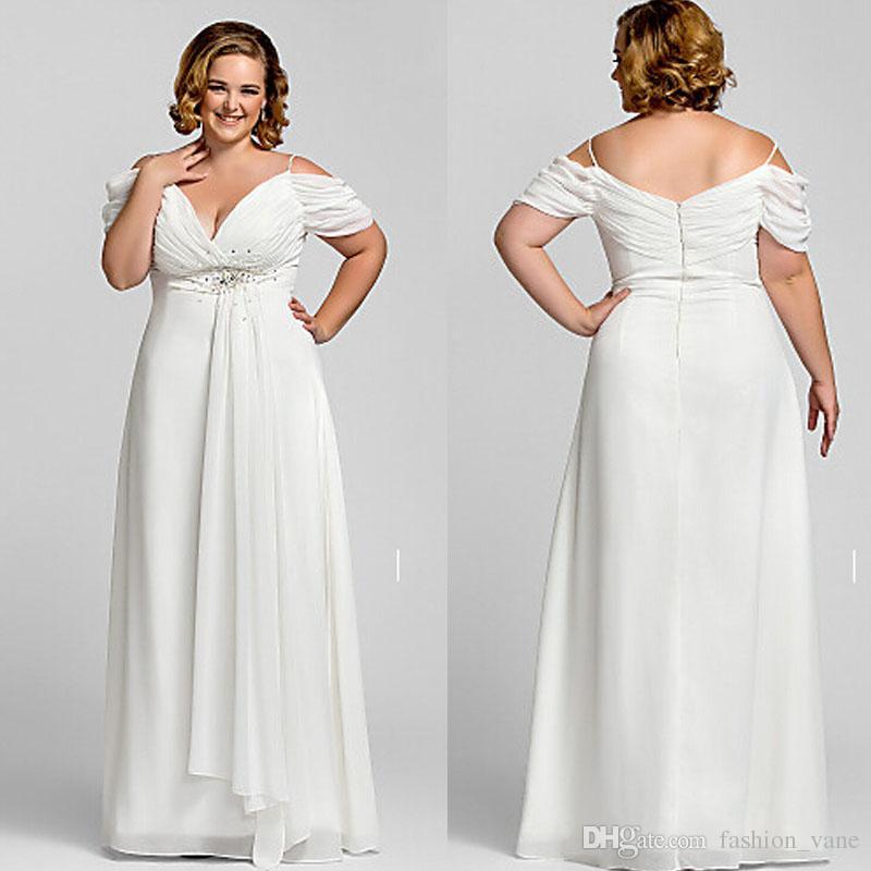 Discount 2017 modest off shoulder plus size wedding for Plus size off the shoulder wedding dress