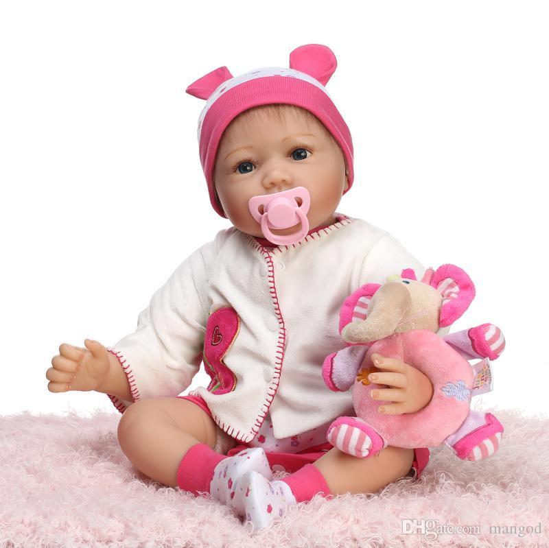 Realistic Silicone Baby Doll Lifelike Reborn Girl Doll