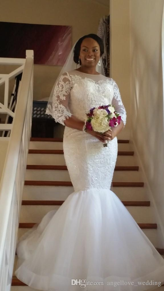 Berta mermaid wedding dresses 2016 brazilian lace beads for Dhgate wedding dresses 2016