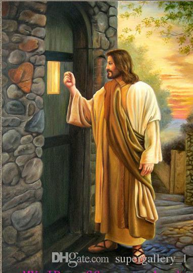 2017 Framed Portrait Jesus Christ Knock At The Door
