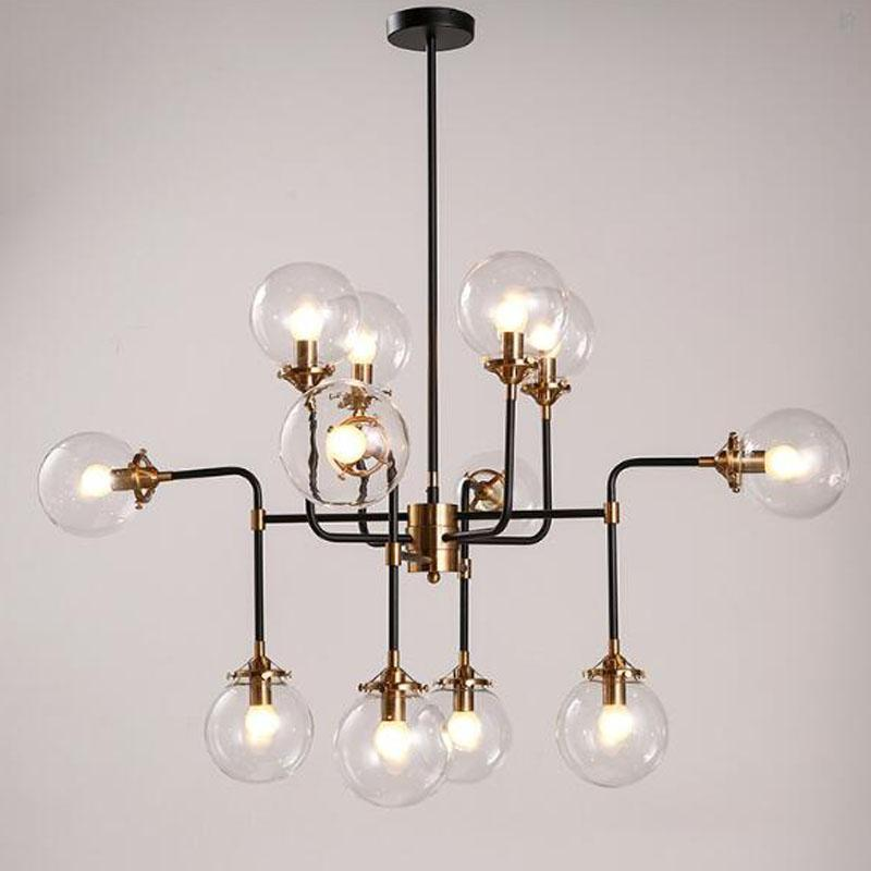 modern shade glass chandelier light e14 bulb led pendant. Black Bedroom Furniture Sets. Home Design Ideas