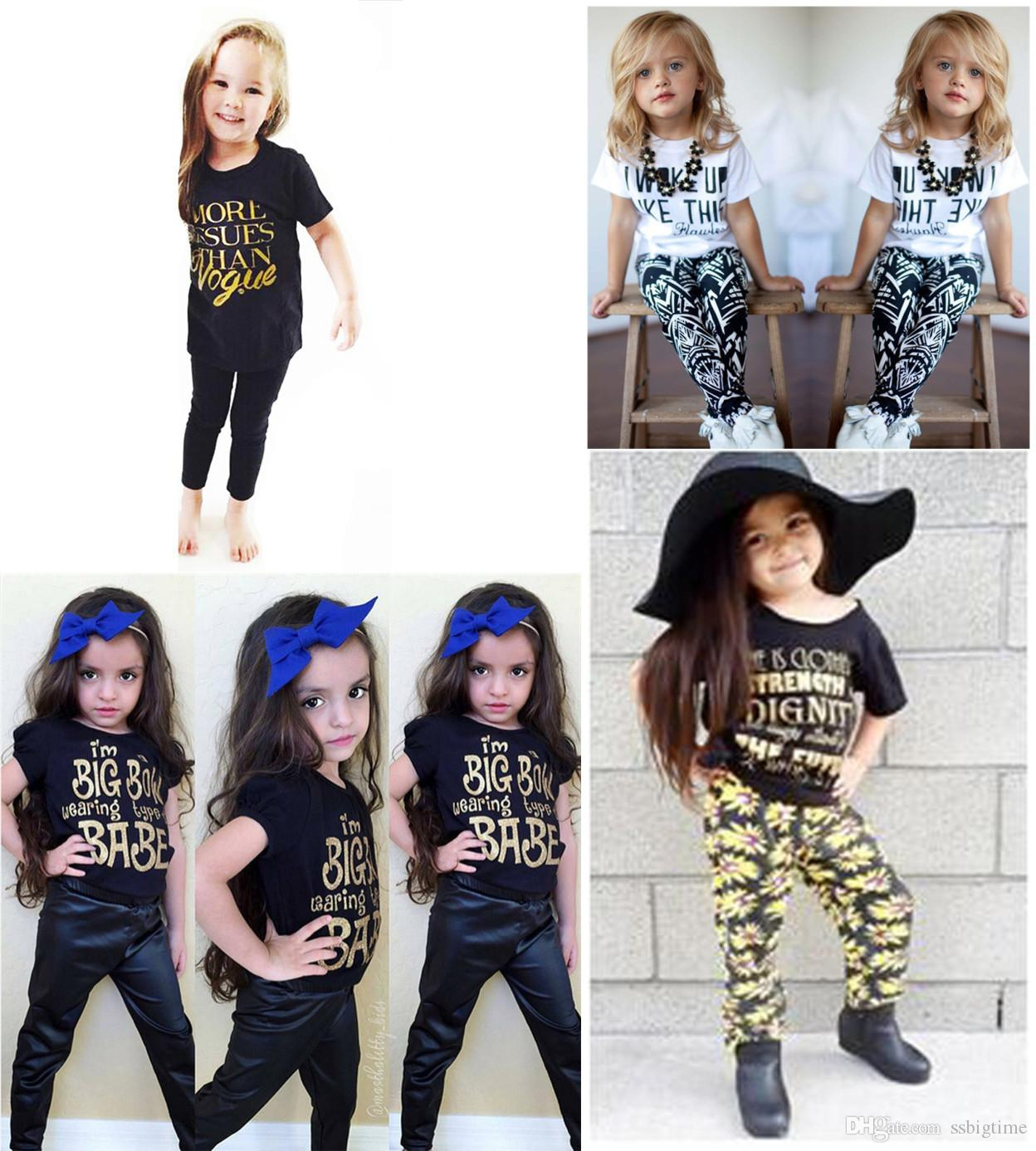 Wholesale Boys Girls Baby Childrens Outfits Cartoon Printed Kids ...