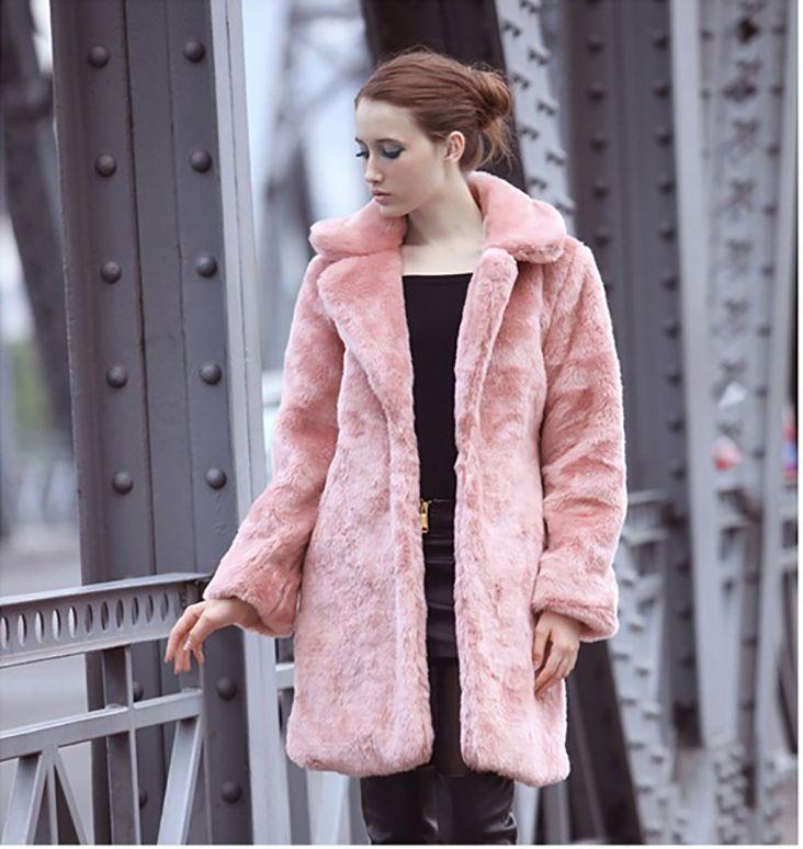 2017 Faux Fur Coat Women Luxury Long Fake Fur Coats 2016 Winter