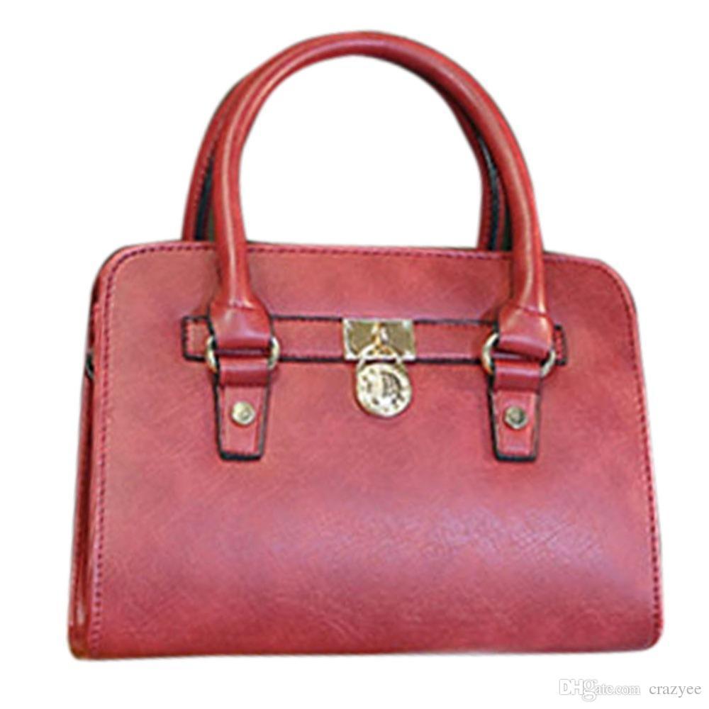 Women Leather Shoulder Bags Wine Red Color Famous Designer Lady ...