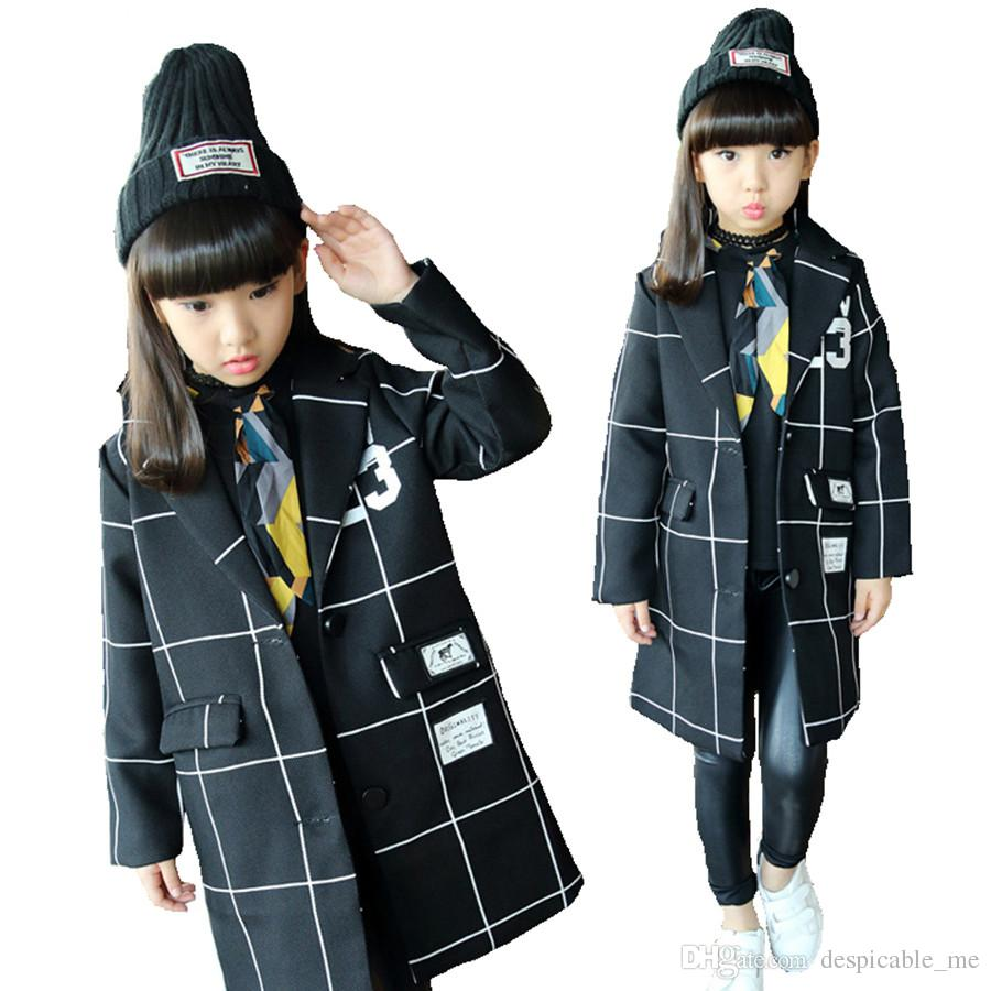 Discount Girls Plaid Trench Coat | 2017 Girls Plaid Trench Coat on