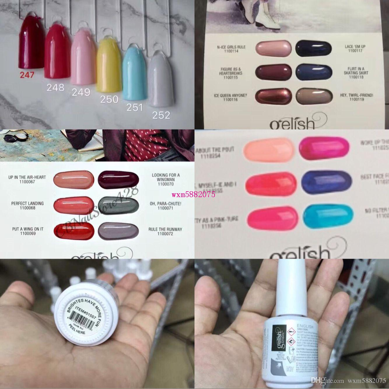 Color harmony online - 2017 High Quality 293 New Colors Harmony Gelish Nail Polish Strucure Gel Gelpolish Clear Nail Gel Led Uv Gel Polish Top It Off Foundation Online With