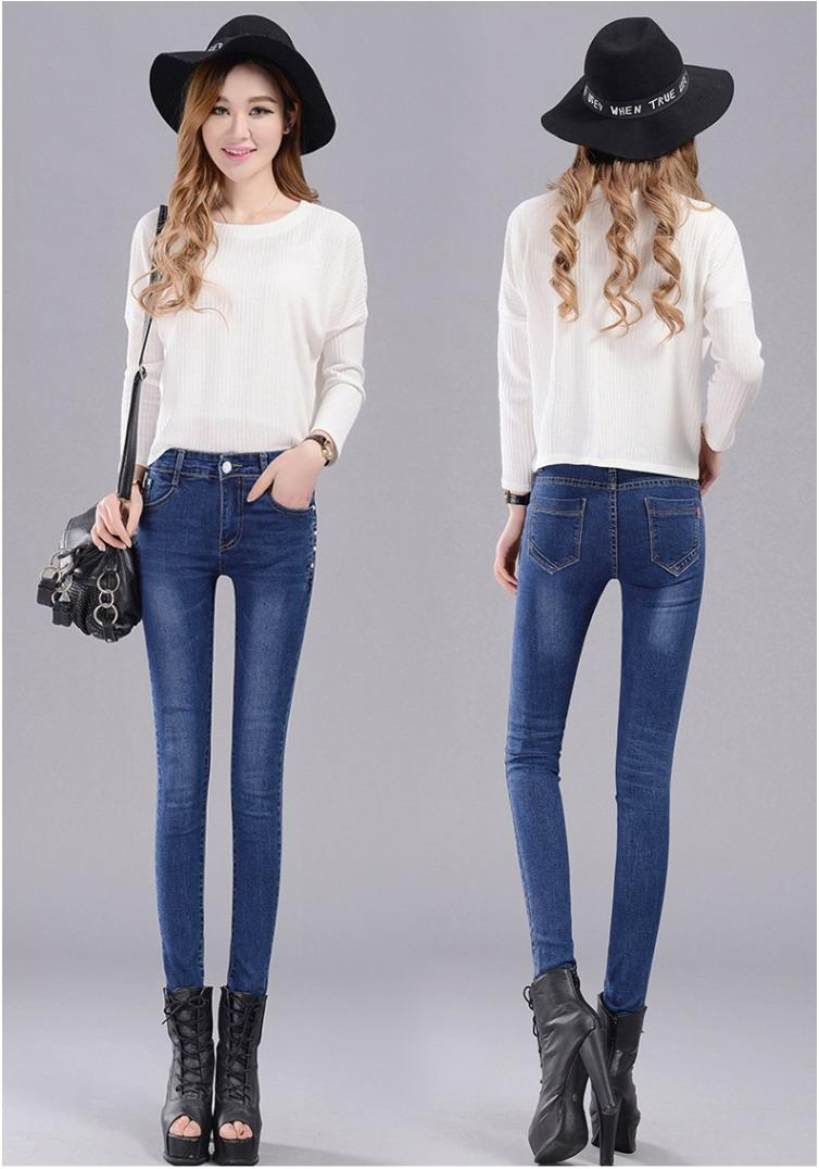 2017 New Korean Style Fashion Women Slim Jeans Spring Autumn Casual Skinny Denim Pencil Pants ...