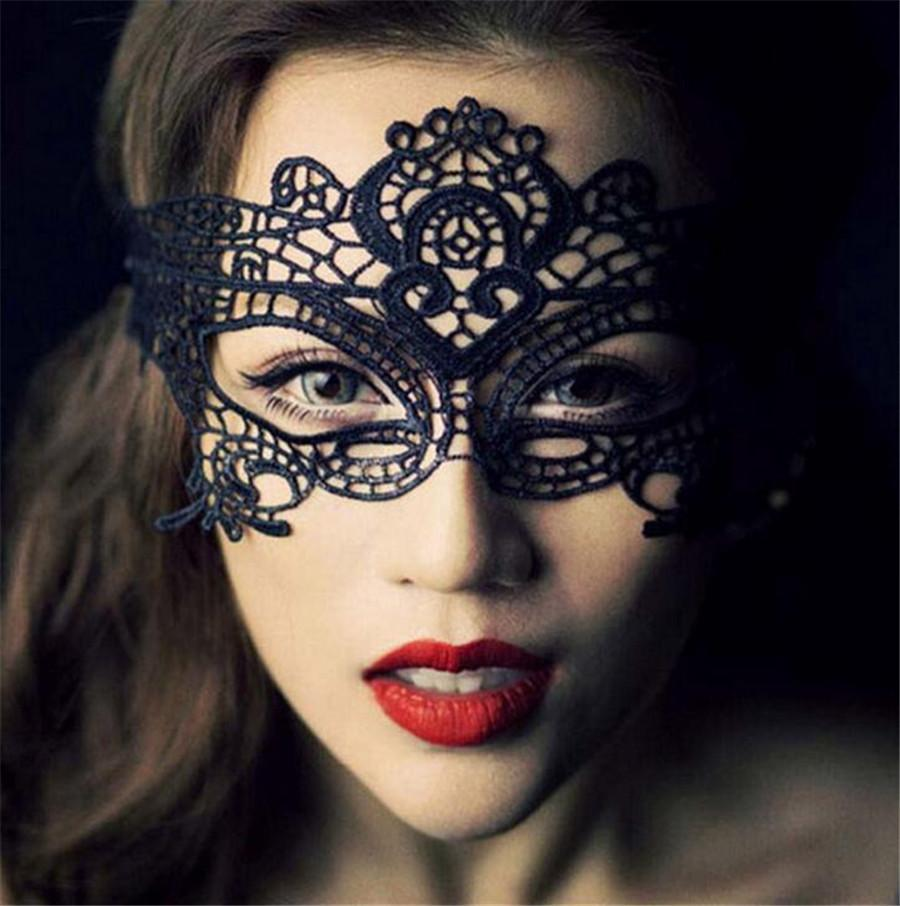 Sexy Women Mask Halloween Masquerade Lady Exquisite Lace Half Face ...