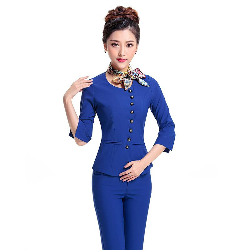 2017 Wholesale Summer Ol Women Business Suits Formal Office Work ...