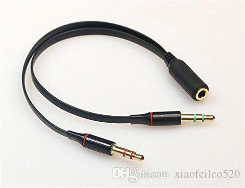 Mic Cable Splitter : Mm aux audio mic splitter cable earphone headphone