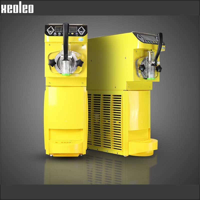 Ice Cream Machine Ice Cream Part - 41: Xeoleo Commercial Soft Ice Cream Machine Single Flavor Ice Cream Maker  18L/h 500W+0.4hp With Pump Function Yogurt Ice Cream Yellow/Black CE Ice  Cream ...