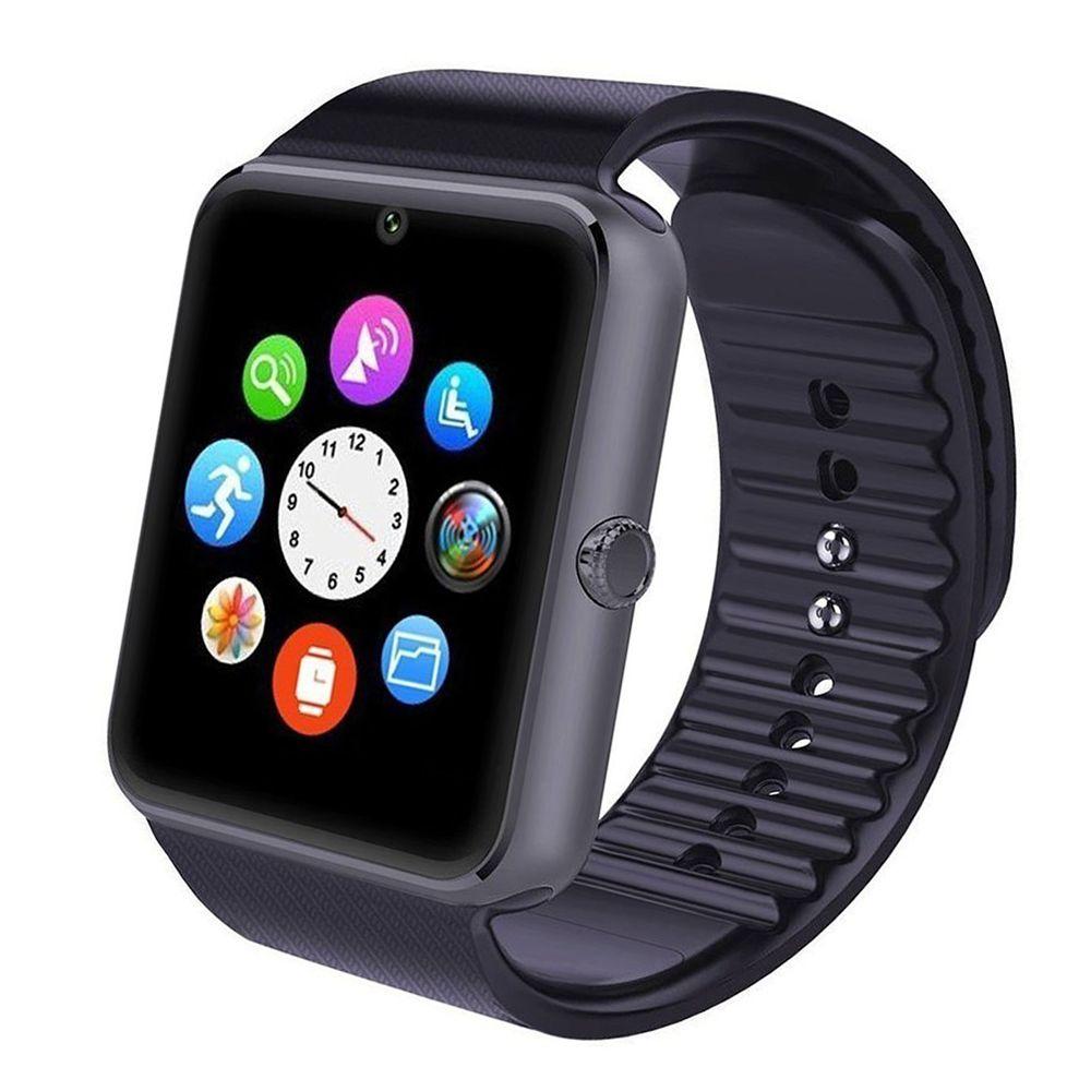 2016 GT08 Smart Watch SmartWatch avec carte SIM Slot DZ09 A1 U8 et NFC Santé Watchs pour Android Samsung et IOS Apple iPhone Montres téléphone