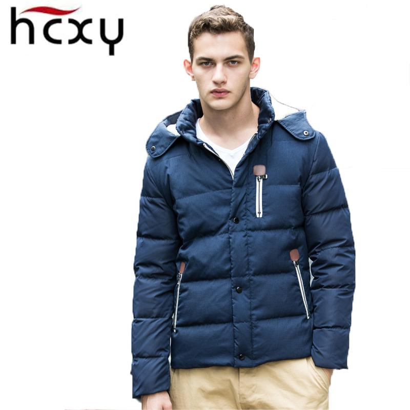 Hcxy Men'S Down Jacket 2016 New Winter Men Hooded Down Jacket ...
