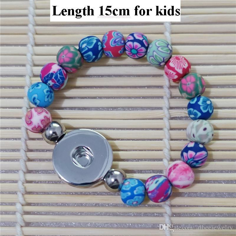 12pcs / lot Mode enfants 15cm Longueur main Multicolor Clay Beads Noosa Chunks 1