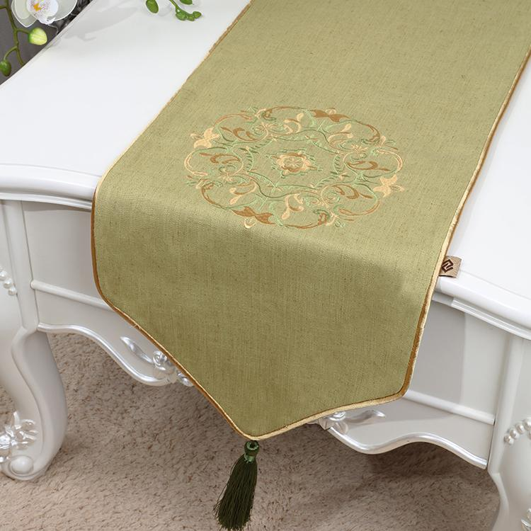 120 Inch Extra Long Embroidery Happy Table Runner High End Cotton Linen  Modern Simple Table Cloth Chinese Style Dining Table Mats 300x33 Cm High  Quality ...