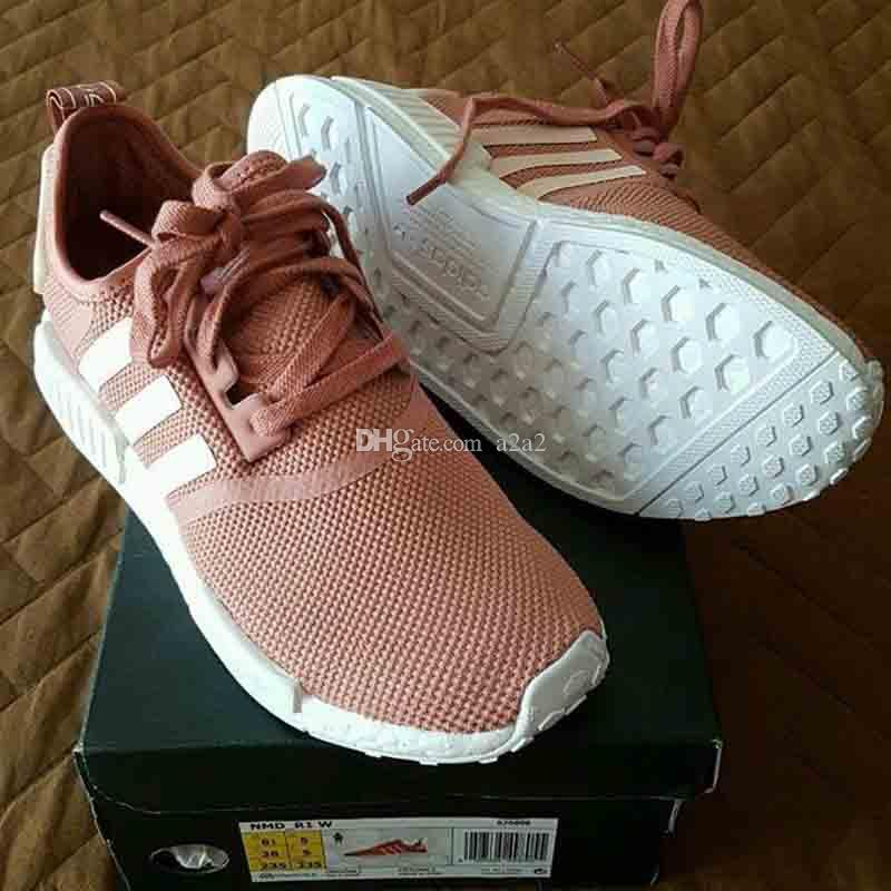 Adidas Originals NMD R1 Primeknit Sun Glow Salmon Light Onix