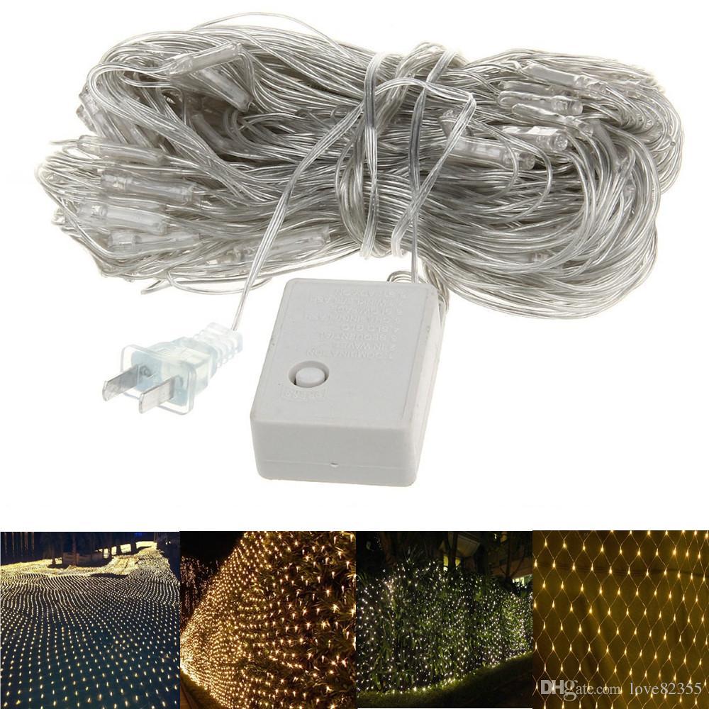 Wholesale 3m*3m Net Lights 400 LED Net Mesh Decorative Fairy Lights Twinkle  Lighting Christmas