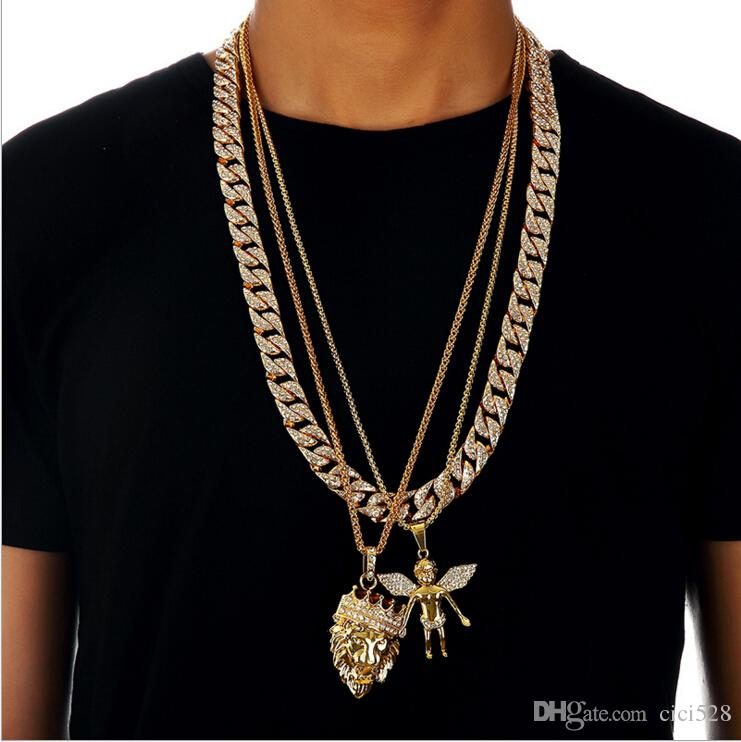 New Arrival Miami Cuban Link Chain Diamond Gold Plated