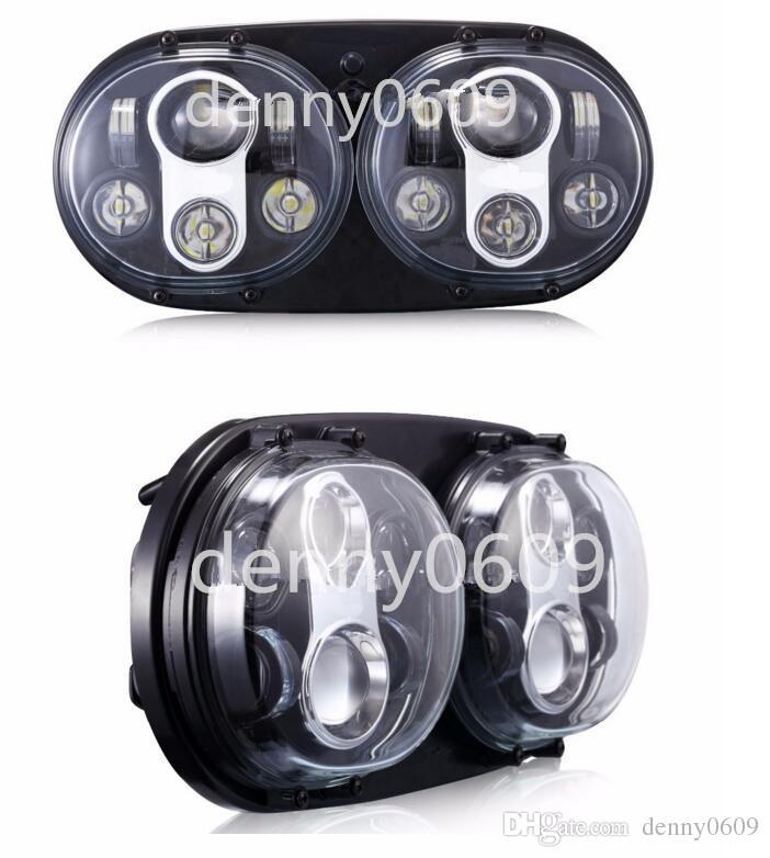 2018 double led headlight oval led headlights for harley. Black Bedroom Furniture Sets. Home Design Ideas