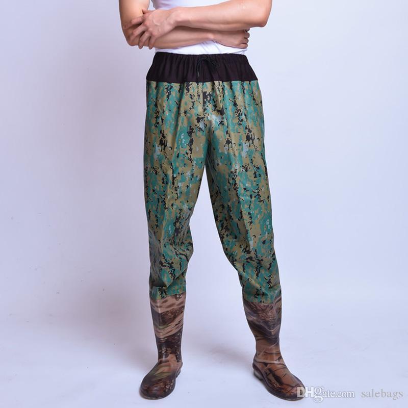2017 hot sales waist waders drawstring waterproof trousers for Fishing waders on sale