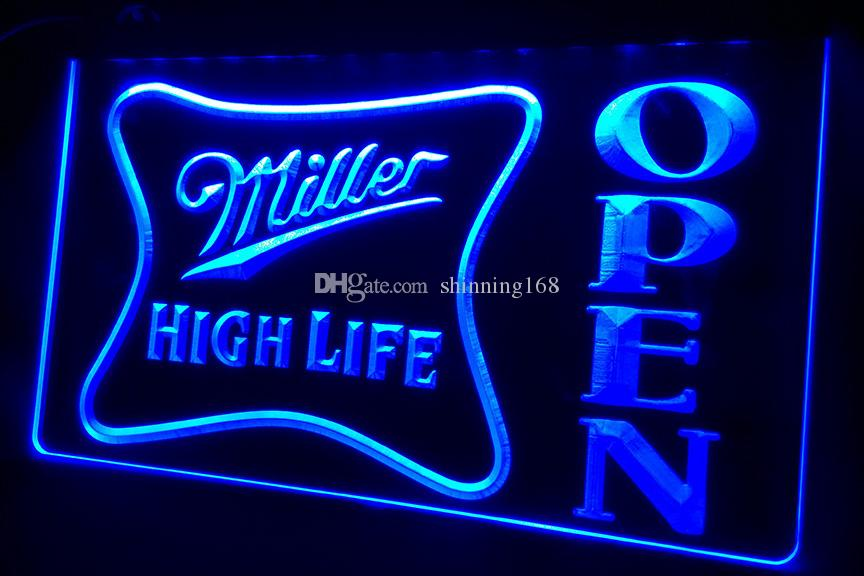 online cheap ls439 g miller high life open bar neon light sign by shinning168 dhgate com. Black Bedroom Furniture Sets. Home Design Ideas