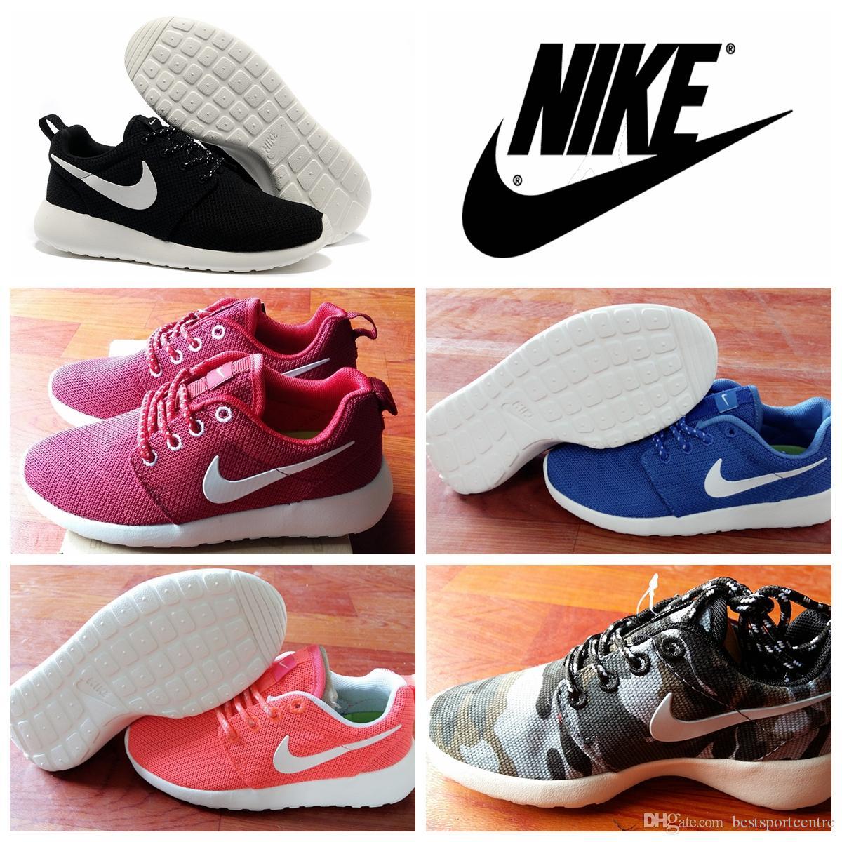 aiqnjr 2016 Nike Roshe Run Children\'S Shoes Boys And Girls Running Shoes
