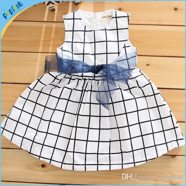 2017 baby girls nice and cool cotton dresss 2016 new girl for New check designs