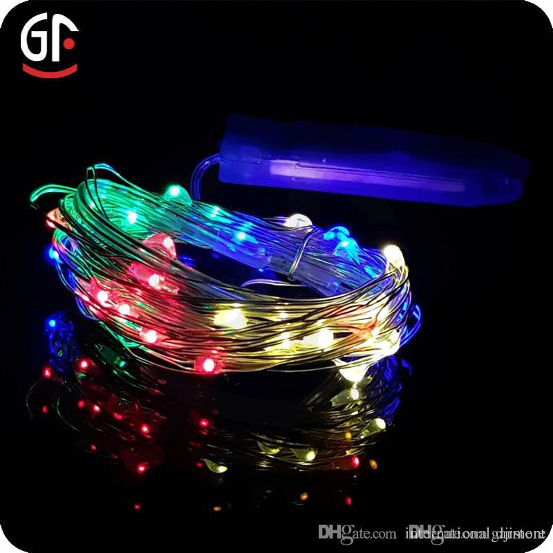 Battery Powered 2m 20 Led Silver Color Copper Wire Mini Fairy String Light Lamp For Christmas ...