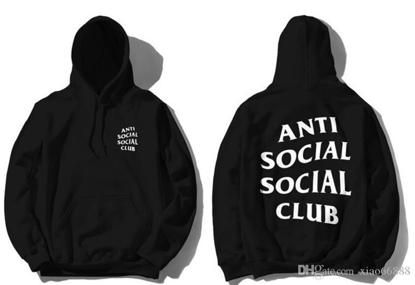 ANTI SOCIAL SOCIAL CLUB ASSC Hooded Punk Hoodie Men in Kanye West ...