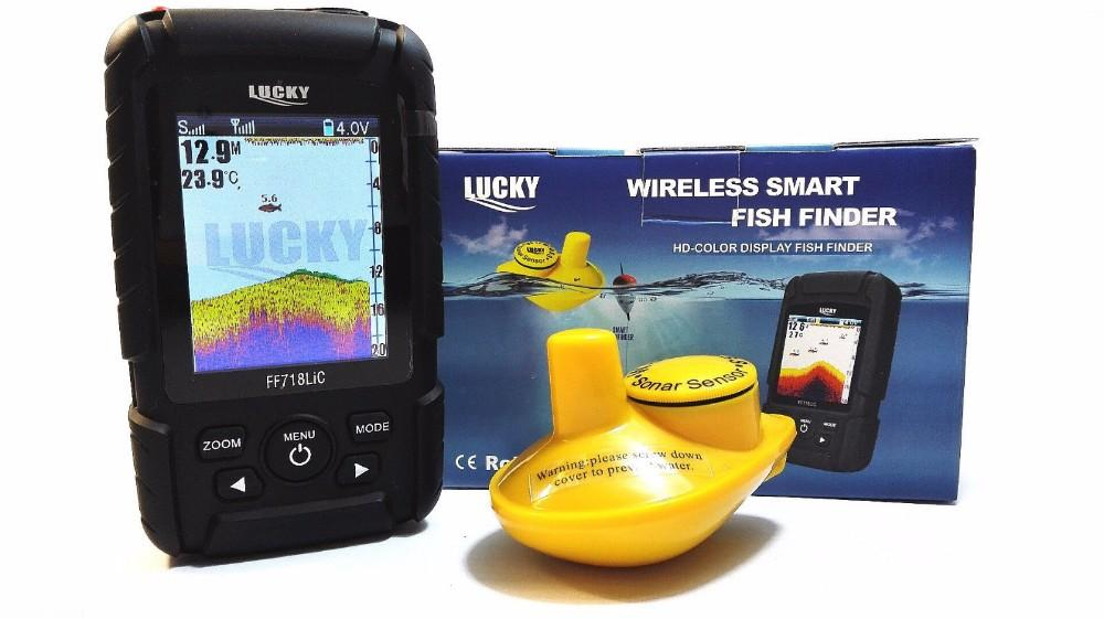 wholesale !lucky ff718lic wireless portable fish finder 45m, Fish Finder